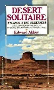 Cover of: Desert Solitaire | Edward Abbey