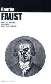 Cover of: Faust: A Tragedy  | Johann Wolfgang von Goethe