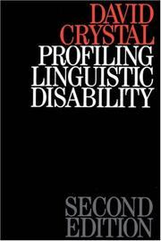 Profiling Linguistic Disability by David Crystal