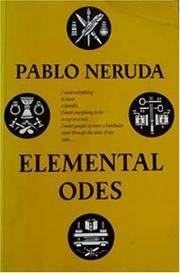Cover of: Elemental Odes