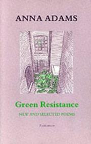 Cover of: Green resistance | Anna Adams