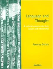 Cover of: Language and thought