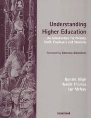 Cover of: Understanding higher education