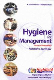 Hygiene for management by Richard A. Sprenger