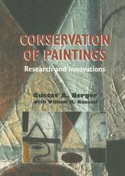 Cover of: Conservation of Painting | Gustav Berger