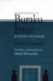 Cover of: An introduction to the buraku issue