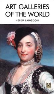 Cover of: Art Galleries of the World | Helen Langdon
