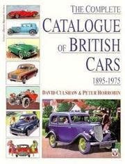 Cover of: Complete Catalog of British Cars, 1895-1975 (Reference)