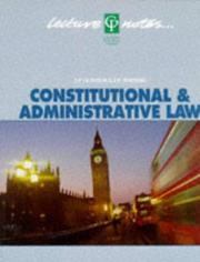 Cover of: Constitutional & administrative law