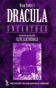 Cover of: Dracula Unearthed