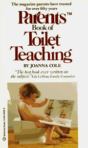 Parents book of toilet teaching by Joanna Cole