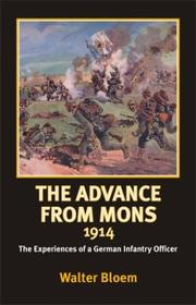 Cover of: The advance from Mons, 1914