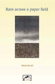 Cover of: Rain across a paper field