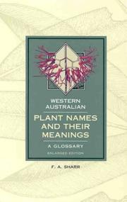Cover of: Western Australian plant names and their meanings