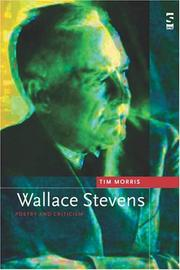 Cover of: Wallace Stevens (Salt Studies in Contemporary Poetry S.) | Tim Morris