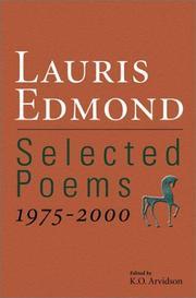Cover of: Selected poems, 1975-2000