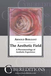 Cover of: The Aesthetic Field | Arnold Berleant