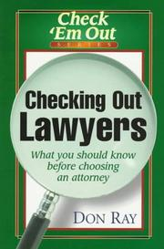 Cover of: Checking out lawyers