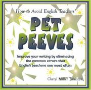 Cover of: How to Avoid English Teachers' Pet Peeves