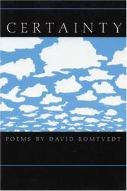 Cover of: Certainty | David Romtvedt