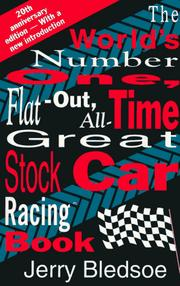 Cover of: The world's number one, flat-out, all-time great, stock car racing book