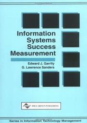 Cover of: Information systems success measurement | Edward J. Garrity
