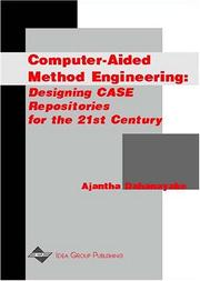 Cover of: Computer-Aided Method Engineering  | Ajantha Dahanayake