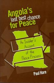 Cover of: Angola's last best chance for peace