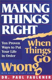 Cover of: Making Things Right When Things Go Wrong