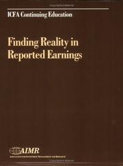 Cover of: Finding reality in reported earnings |