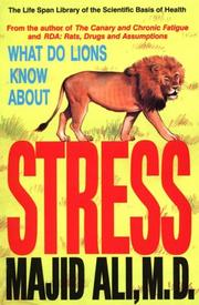 Cover of: What Do Lions Know About Stress