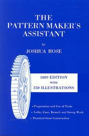 The pattern maker's assistant by Joshua Rose
