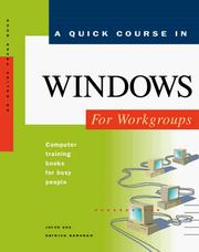 Cover of: A quick course in Windows for workgroups