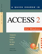 Cover of: A quick course in Access for Windows, version 2
