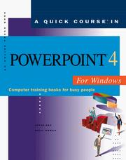 Cover of: quick course in PowerPoint 4 for Windows | Joyce Cox