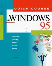 Cover of: Quick course in Windows 95