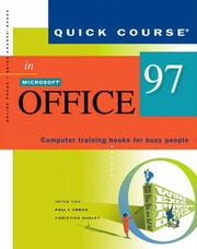 Cover of: Quick course in Microsoft Office 97