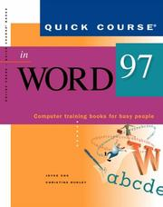 Cover of: Quick course in Word 97