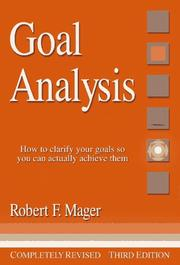 Cover of: Goal analysis
