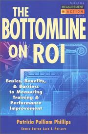 Cover of: The Bottom Line on ROI