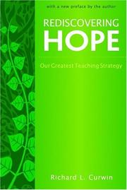 Cover of: Rediscovering hope