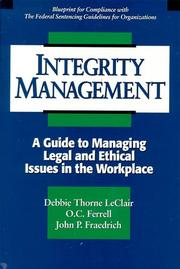 Cover of: Integrity Management | Debbie Thorne Leclair