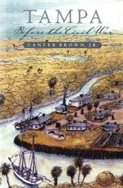 Cover of: Tampa before the Civil War