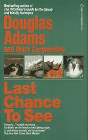 Cover of: Last chance to see by Douglas Adams