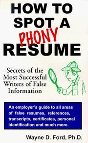 Cover of: How to spot a phony resume
