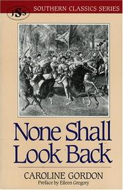 Cover of: None shall look back