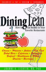 Cover of: Dining lean