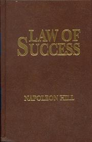 Cover of: The Law of Success