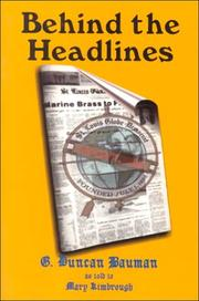 Cover of: Behind the headlines