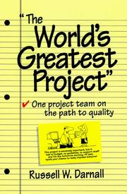 "Cover of: ""The  world's greatest project!"""